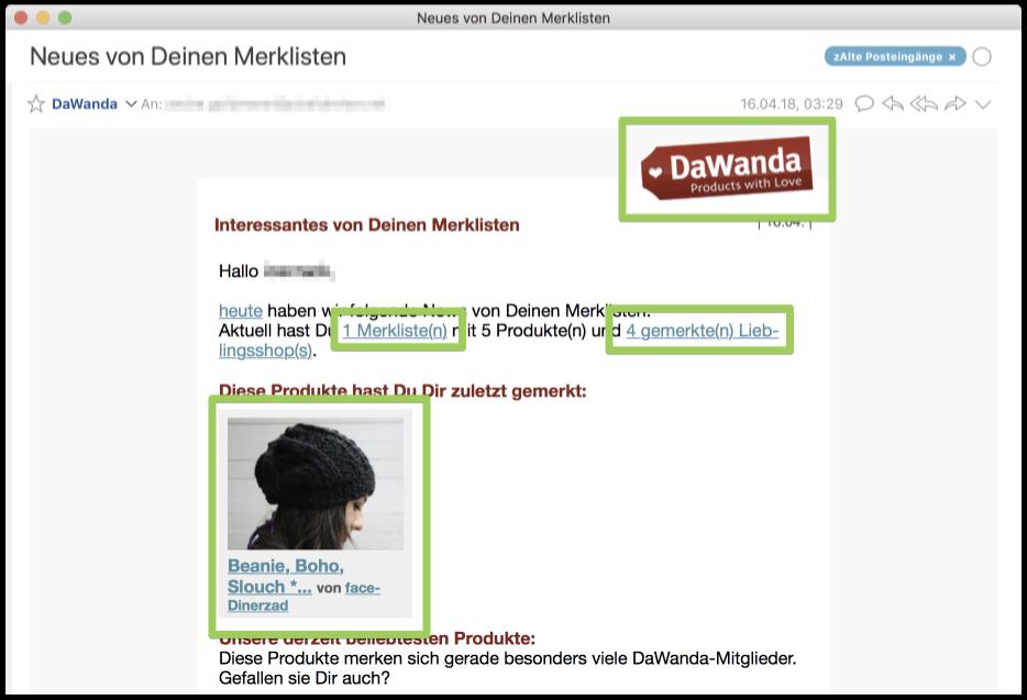Beispiel-Bereiche für UTM-Parameter innerhalb einer E-Mail-Marketing-Kampagne