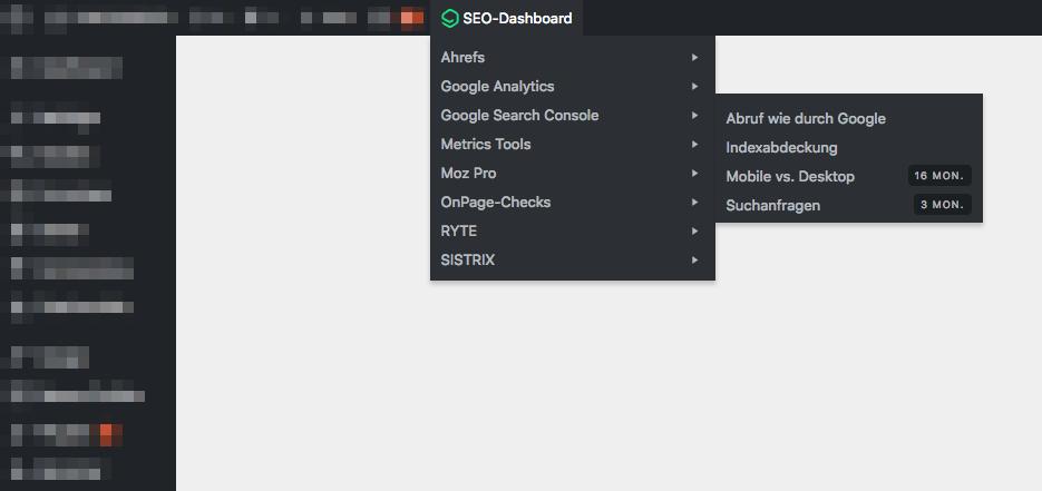 SEO-Dashboard vom Büro für gute Websites