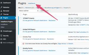 WordPress-Plugins im Backend installieren