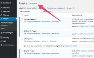 WordPress-Plugins im Backend installieren