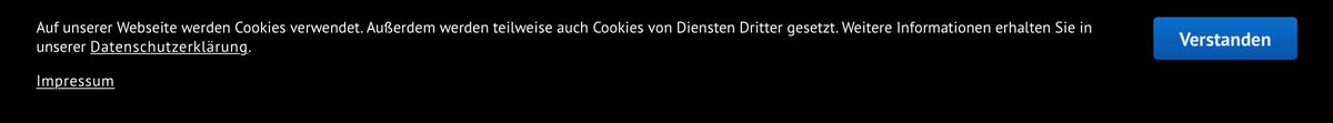 Cookie-Hinweis mit Behördendeutsch