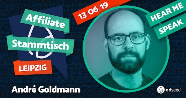 André Goldmann auf dem Affiliate Stammtisch 2019