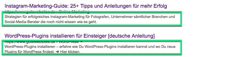 Optimale Meta-Description bei der Onpage-Optimierung