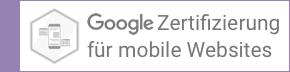Das Büro für gute Websites wurde Google-Zertifiziert für mobile Websites