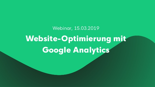 Website-Optimierung mit Google Analytics